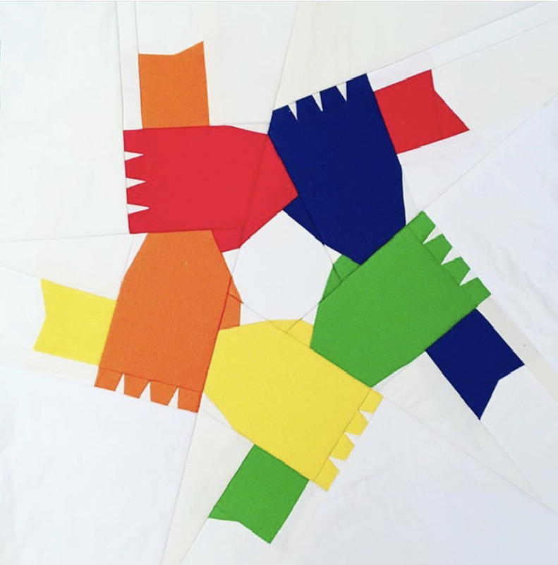 holding hands quilt block pattern, BLM fundraiser pattern, we stand together, quilters against racism